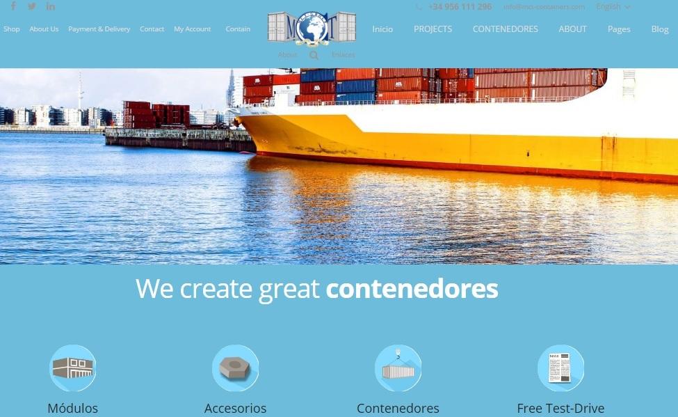 Primer boceto de dise o web de empresa de contenedores - Contenedores maritimos baratos ...