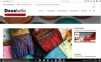Desarrollo web de Decobello Pintura Decorativa
