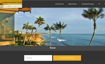 Segundo boceto de página principal de la web de IberiaPro