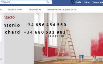 Configuración del Facebok de Decobello Pintura Decorativa
