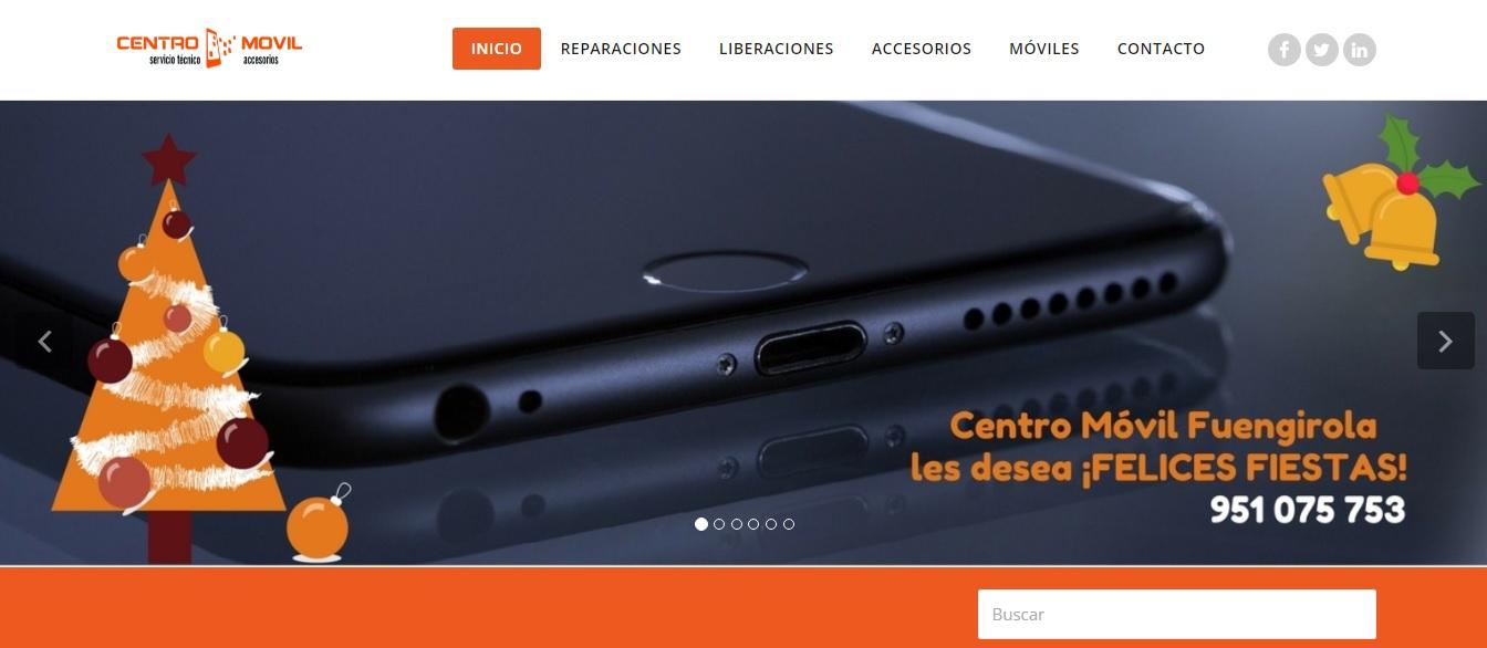 web de Centro Móvil Fuengirola
