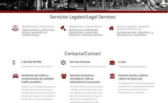 Desarrollo web en Andalucía: www.pilargonzalezabogados.es