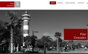 Desarrollo web en Málaga: primer boceto web Pilar Gonzalez Abogados