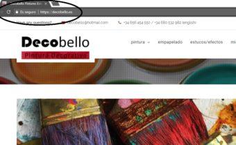Certificado de Seguridad de la web de Decobello
