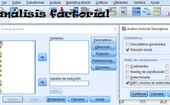 Análisis Factorial con SPSS
