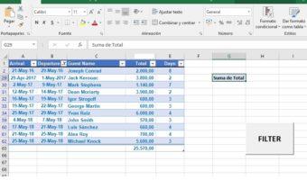 Trabajos de Excel en la Costa del Sol