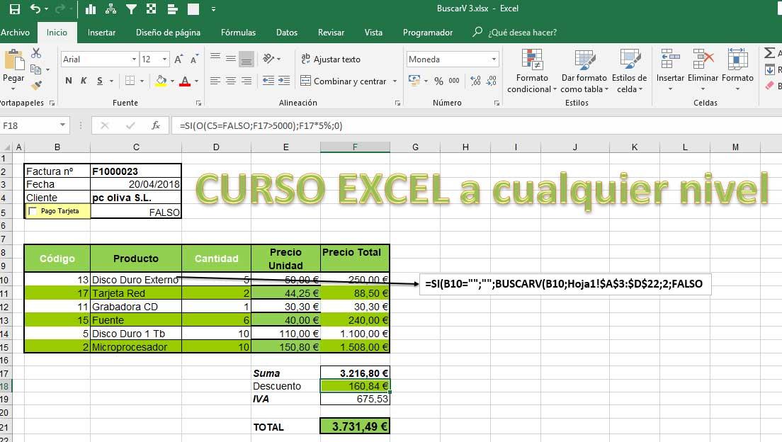 Cursos de Excel a cualquier nivel