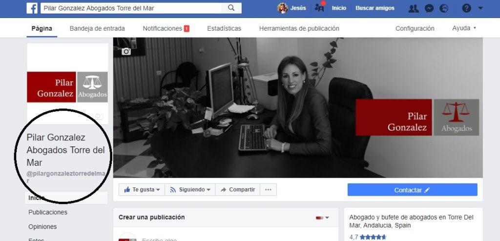 Posicionar Facebook con el nombre de la Fan Page