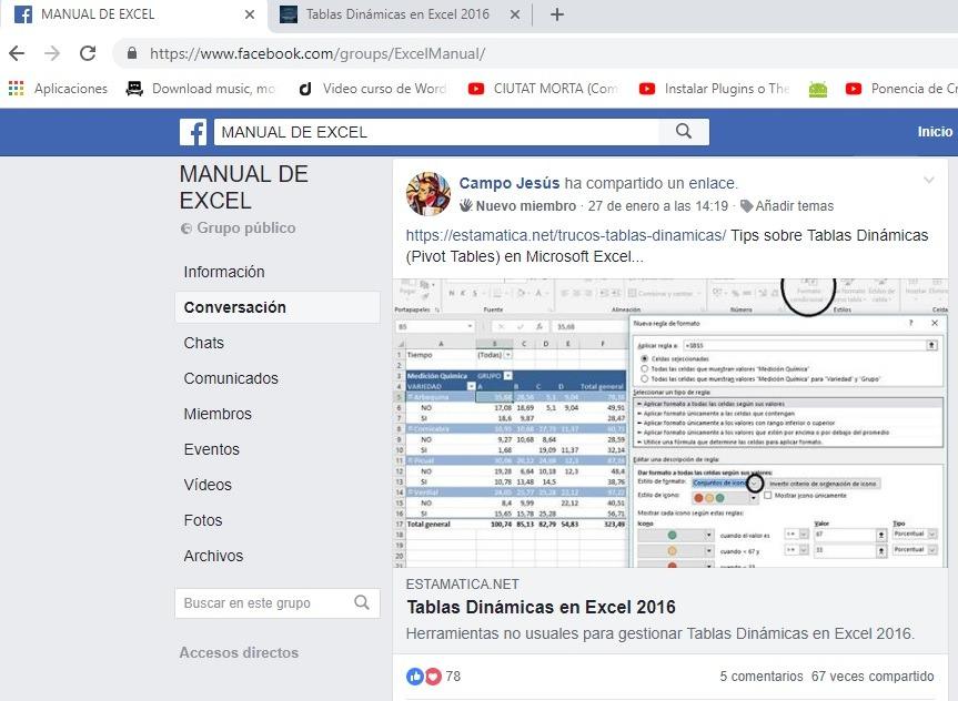 Publicar en grupos de Facebook muy activos