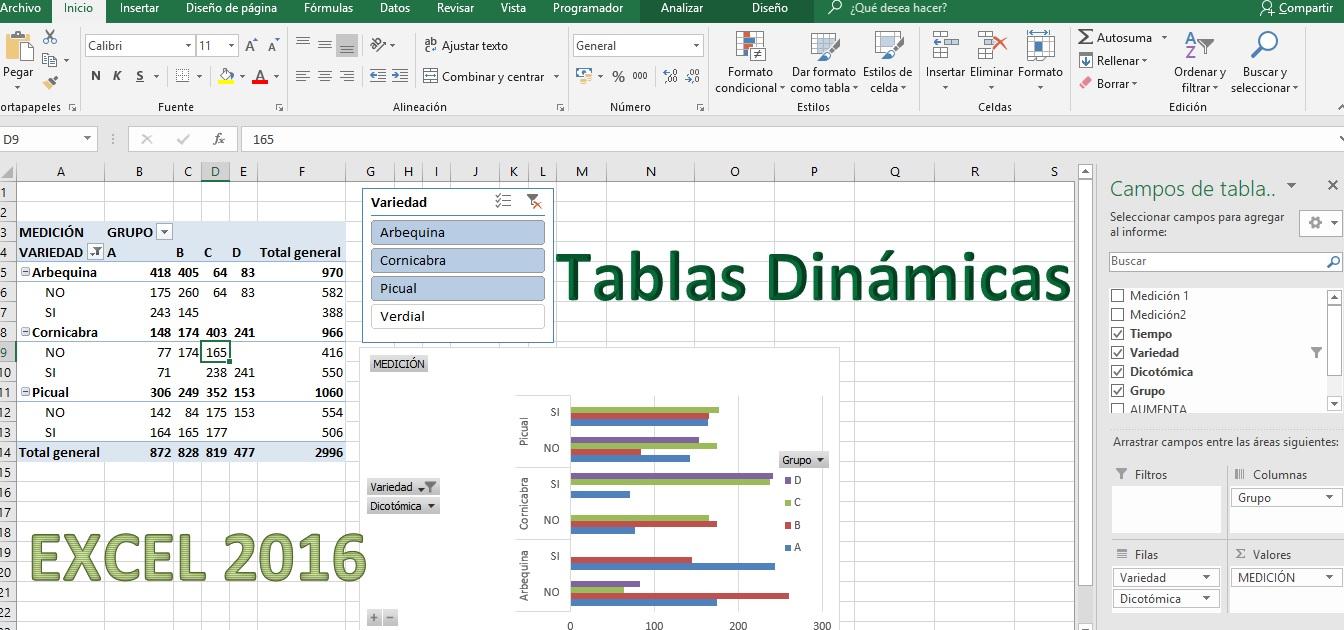 Tablas Dinámicas en Excel 2016
