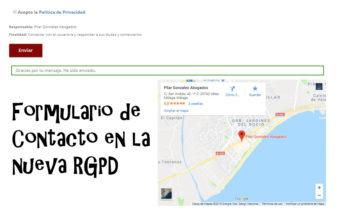 Adaptar Formularios de Contacto a la RGPD