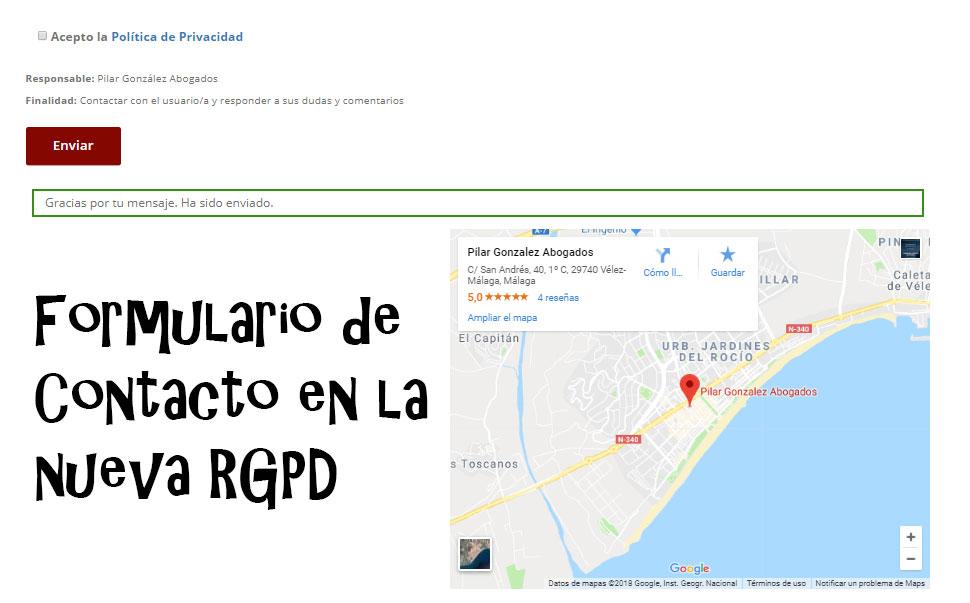 formulario nueva Rgpd