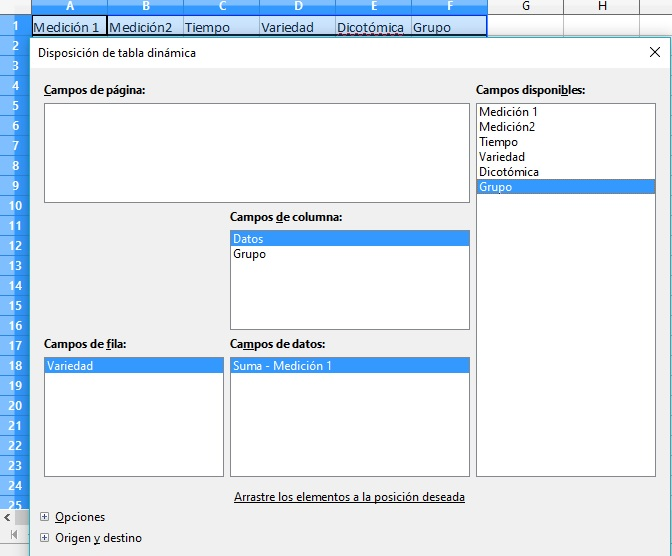libreoffice calc disposición de tablas dinámicas-