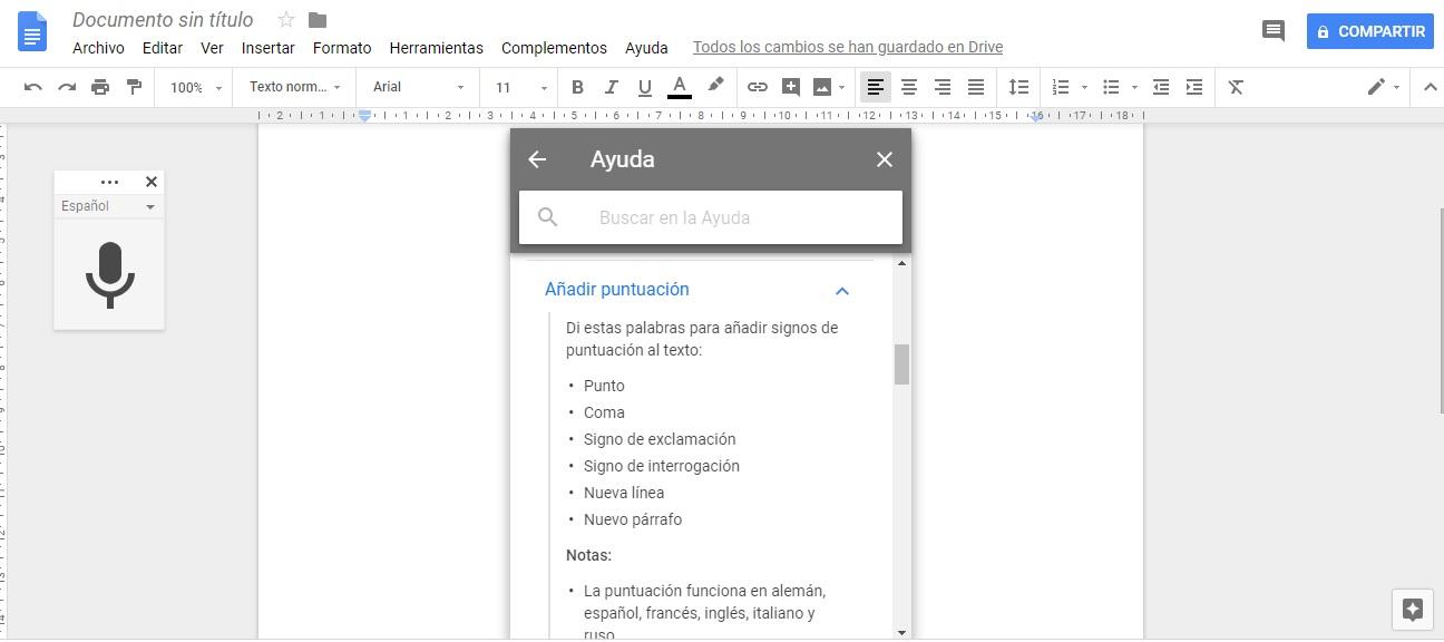 Texto por Voz desde Google Docs