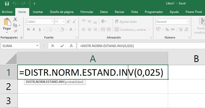 tablas distribución Normal con Excel
