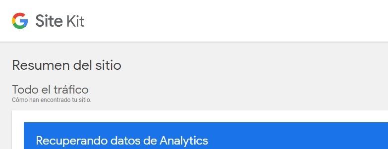 Plugin Site Kit que conjuga Analytics, Search Console con palabras claves más buscadas, etc