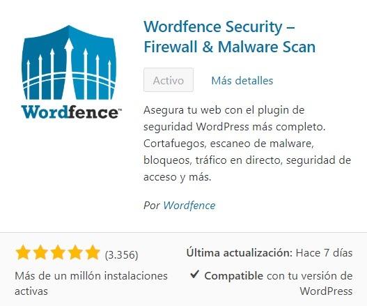 Plugin WordFence anti-malware