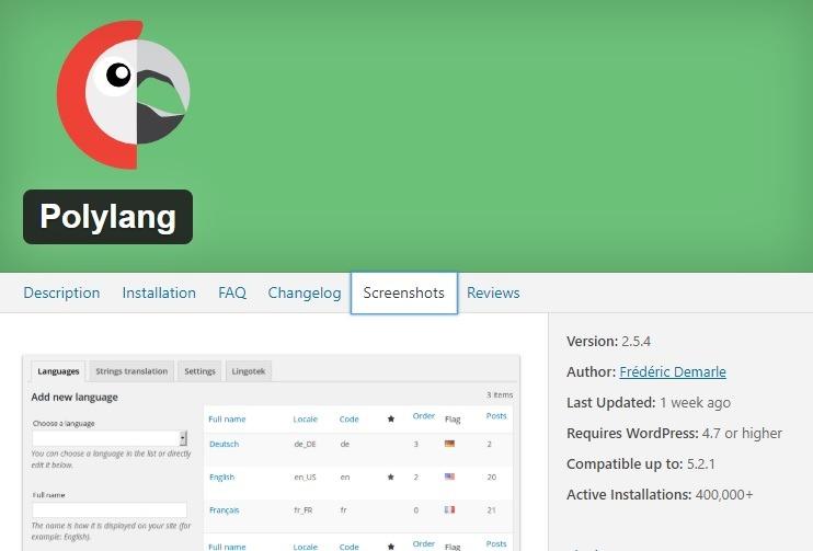 Polylang plugin de idiomas gratis