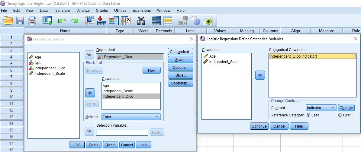 Binary Logistic Regressionwith SPSS