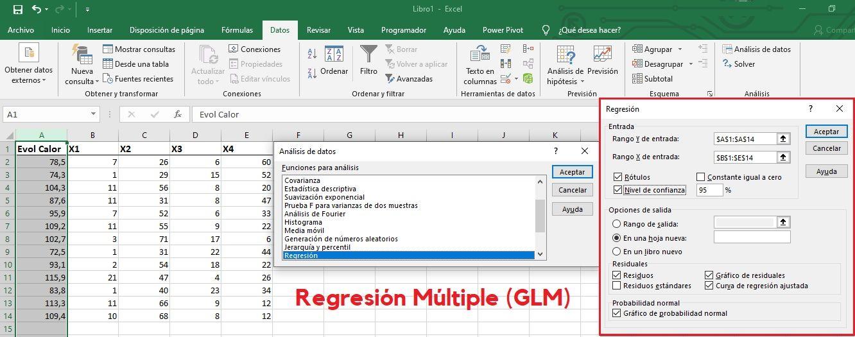 Regresión múltiple en Excel