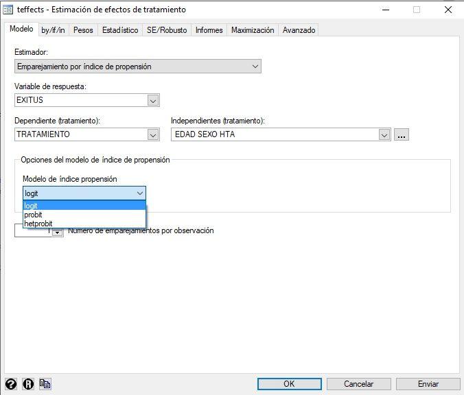 comandos de menu para PSM binario